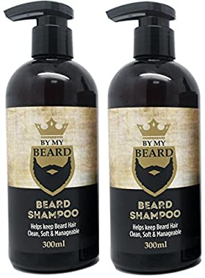 x2 By My Beard- Beard Shampoo Wash Men's Moustache Grooming Care Facial Hair by
