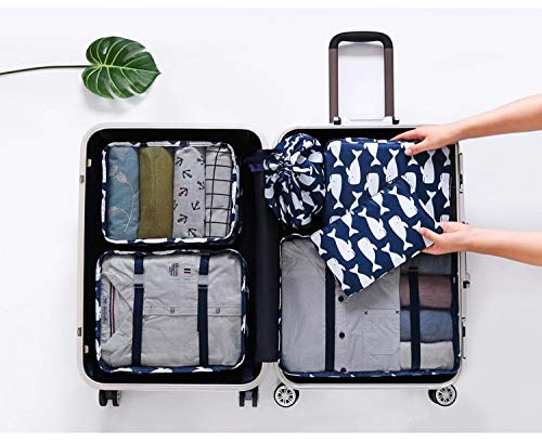 Waterproof admission package finishing Liu Jiantao suit suitcase clothes holding multi-functional travel storage suit XZZ (Color : Whale)