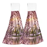 Hanging Kitchen Hand Towels Cherry Blossom With Washington Dc Dishcloths Sets with Loop Hand Towels 2 Pieces