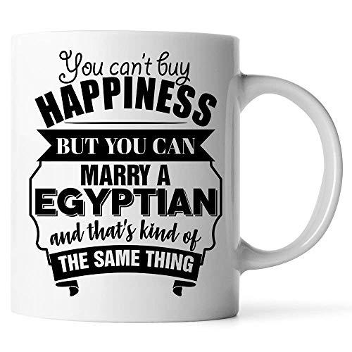 tazas Es una taza de café egipcia No puedes comprar la felicidad pero puedes casarte con un egipcio y eso es lo mismo