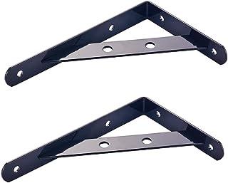SUPPORT Soporte de repisa Esquina Soporte de ángulo de refuerzo, soporte de L montado en la pared, material de aleación de aluminio de varios tamaños, adecuado para estantería, cocina, baño, dormito
