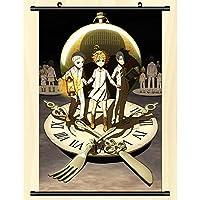 約束のネバーランド 壁巻壁画ポスター壁掛けポスターオタク室内装飾コレクション 50x75cm