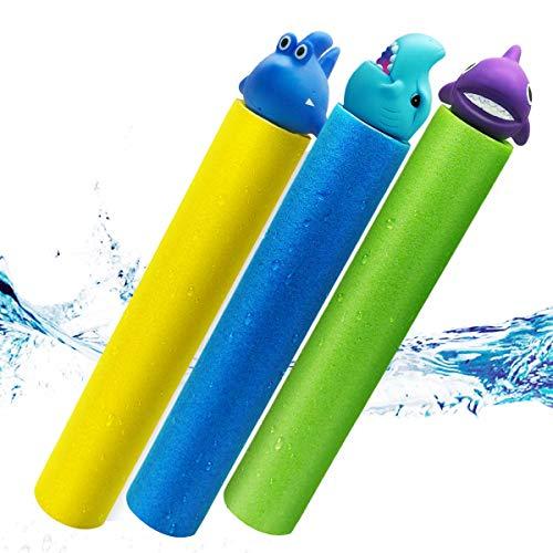 Water Guns for Kids 3 Pack Foam Water Blaster Squirt Gun Shooter Swimming Pool Pump Foam Water...