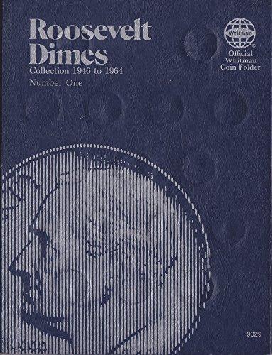 1946-1964 Roosevelt Dime Trifold Whitman No 9029 Coin; Album, Binder, Board, Book, Collection, Folder, Holder, Page, Portfolio, Publication, Set, Volume