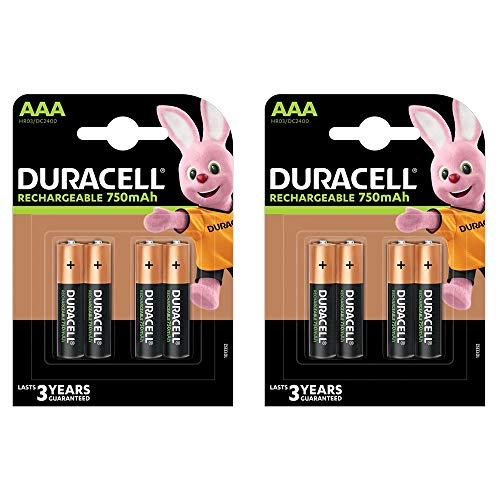 Duracell Pile Rechargeable AAA x 8