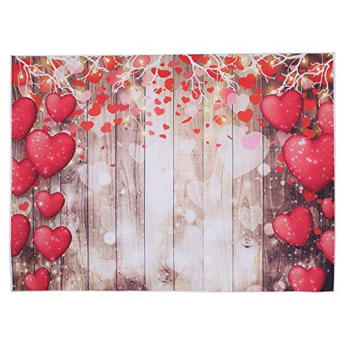 OSALADI Amor Telón de Fondo El Día de San Valentín Foto de Fondo Paño Tablón de Madera Apoyo de La Foto