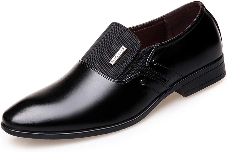 ZHRUI Men Formal shoes Spring Autumn Dress Wedding Pointy Loafers Men Business shoes (color   J2 Black, Size   11=46 EU)
