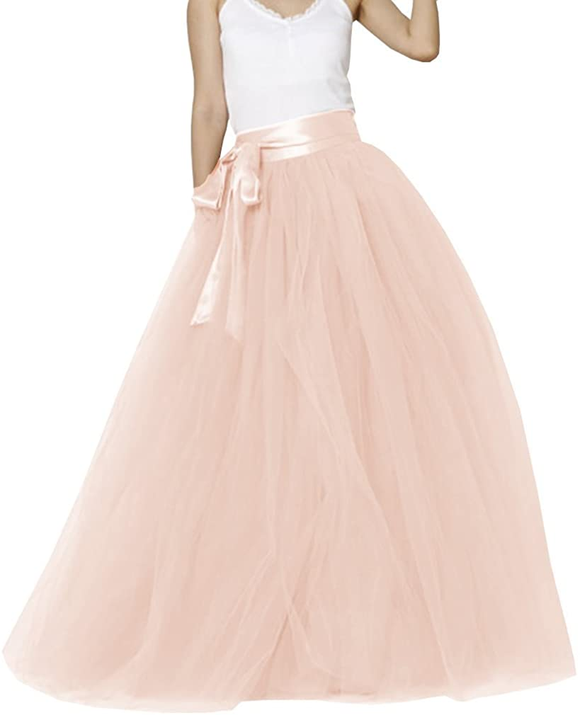 EllieHouse Womens Long Tutu Safety and trust Party Excellent Evening PC05 Tulle Skirt