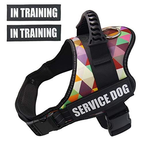 Dihapet No Pull Dog Harness, Reflective Dog Harness Vest, Pet Walking Harness for Small Medium Large Breed Dog, S