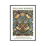 Póster de exposición de William Morris, estampado floral, pintura de pared abstracta moderna, pintura en lienzo sin marco A6 70x100cm