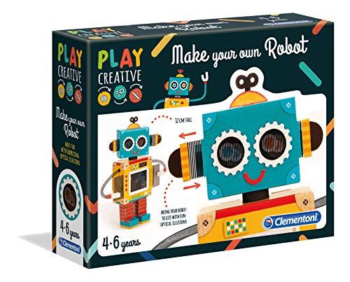 Clementoni Clementoni-15274 15274-Play Creative-CREA tu Propio Robot, Multicolor (15274)