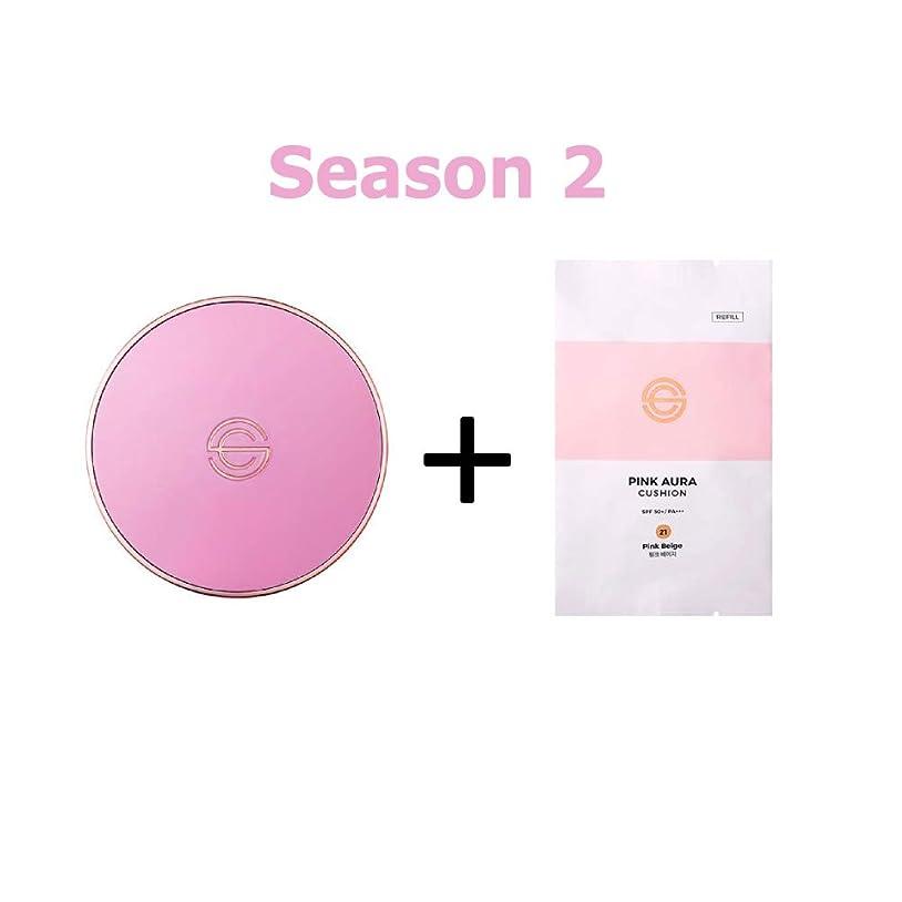 大工オレンジ祈り[Season 2] DPC Pink Aura Cushion 15g + Refill 15g/DPC ピンク オーラ クッション 15g + リフィル 15g (#21 Pink Beige) [並行輸入品]