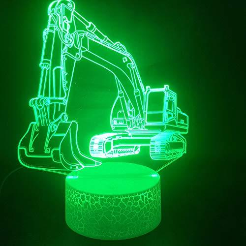Luz de noche Ilusión óptica Lámpara 3D 7 colores Cambio de control táctil Luz de mesa LED Lámpara para dormir Decoración del hogar Cumpleaños/Navidad/Regalos de fiesta para niños (644)