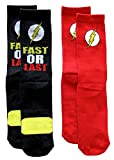 DC Universe Flash Athletic Crew Socks 2 Pair Pack