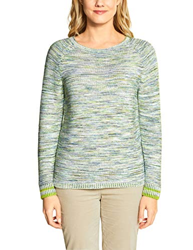 CECIL Damen Mouline Pullover, Lucky Clover Green, Medium