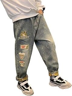 HOSD Pantalones para niños Jeans de Invierno 2019 más Terciopelo Engrosamiento niño Nueva versión Coreana de Pantalones Pa...