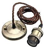 KINGSO E27 Lustre Suspension Vintage Retro Culot de Lampe Edison Antique 110-250V Adaptateur de...