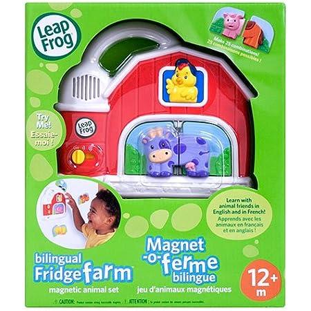 Amazon Com Leapfrog Fridge Farm Magnetic Animal Set Billingual English French Electronic Learning Toys Baby