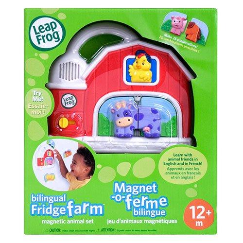 Leapfrog Fridge Farm Magnetic Animal Set Billingual English/french
