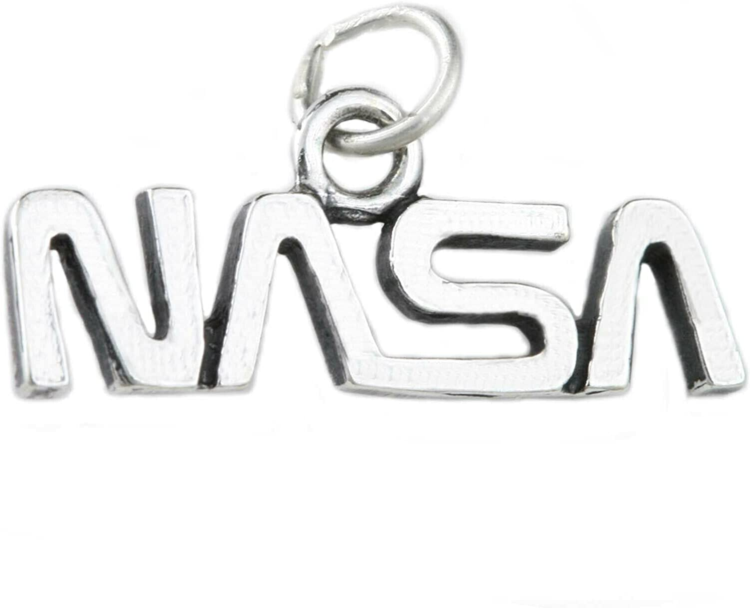 The Worm NASA Logo Nippon regular agency Symbol 925 Sterling Solid Pendan Direct stock discount Charm Silver
