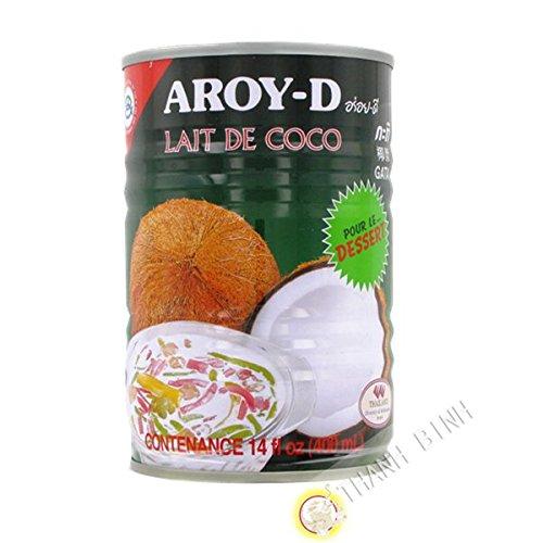Latte di cocco dolce AROY-D 400ml Thailandia - Confezione da 6 pz