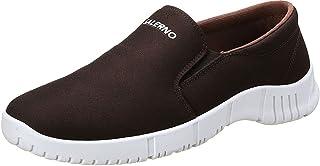 Salerno Printed Front Logo Contrast Sole Slip-on Shoes for Men