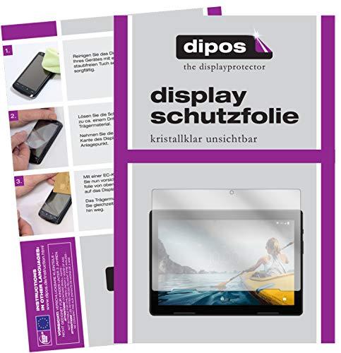 dipos I 2X Schutzfolie klar kompatibel mit Medion Life P10710 10 Zoll Tablet Folie Bildschirmschutzfolie