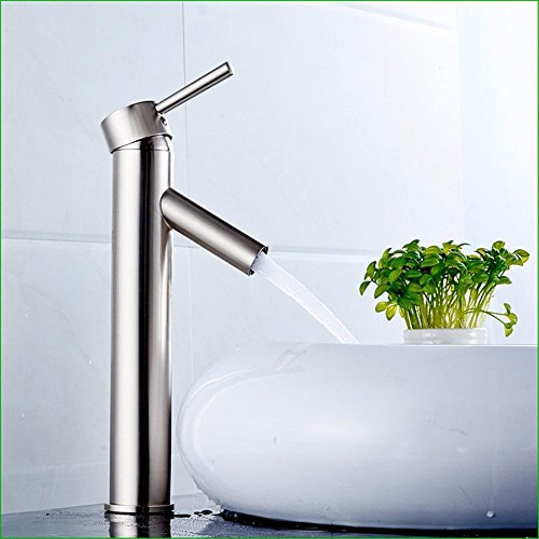 Bijjaladeva Wasserhahn Bad Wasserfall Mischbatterie WaschbeckenAlle Kupfer gebürstet Waschtischmischer ist Ein wasseranschlu Waschbecken Badewanne Armatur und Kalten Wasserhahn