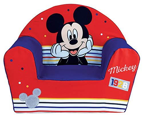 Fun House 713012 Disney Mickey - Sillón Infantil Original de Francia, a Partir de 18 Meses