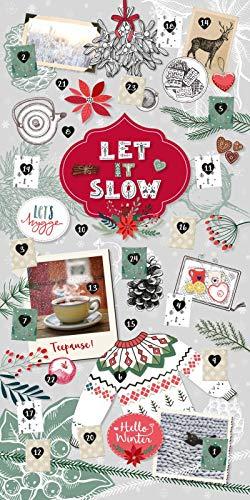 Let it slow - Ein hyggeliger Adventskalender für entspannte Momente in der Vorweihnachtszeit: Adventskalender zum Aufhängen