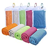 Lewpox Sport Tücher,Kühlendes Handtuch,Weich,Flexibel,Workout Sporttuch,Cooling Towel für Fitness, Sport, Reise, Yoga,5 Stück