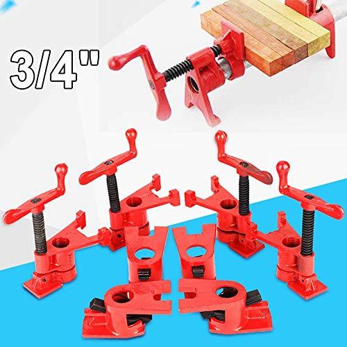 Houten tang, set met 4 lijmklemmen van hout, werkbank voor houtbewerkingswerktuigen 3/4 inch