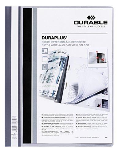 DURABLE Hunke und Jochheim Angebotshefter DURAPLUS®, strapazierfähige Folie, DIN A4, grau