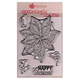 Jane Gill Clear Magic Stempel ? Doodle Poinsettia -