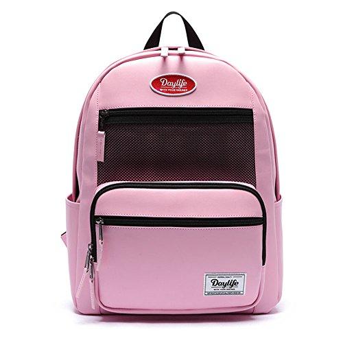 [デ?ライフ] Daylife Leather Layer Plus Backpack?レザ??レイヤ?プラスバックパック メッシュ リュック バックパック 5色 [?行輸入品] (ベビ?ピンク)