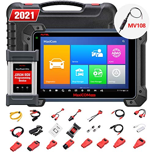 Autel Maxisys Pro MK908P, Top OBD2 Diagnostic Scanner with J2534 Reprogramming, ECU Coding, Active Test, 30+ Service Functions, Same as Maxisys Elite, MS908P, Free Video Inspection MV108 is Given