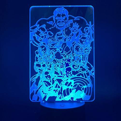 Sanzangtang Led-nachtlampje, 3D-7 kleuren, afstandsbediening, anime nachtlampje, voor kinderen, jongens, jongen