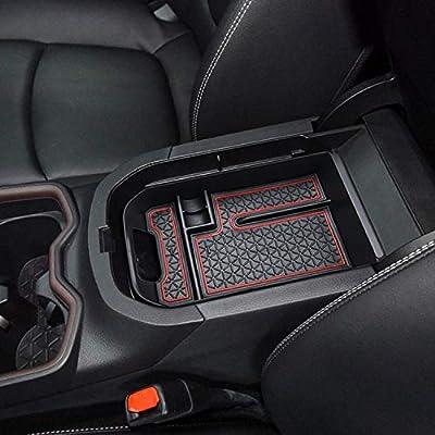 RAV4 Interior Accessories,Armrest Storage Compatible for Toyota Rav4 Center Console Organizer?Center Console Tray Compatible with Toyota Rav4 2019 2020,Keep The Center Console Organized (Red)