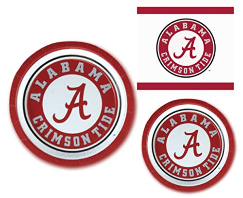 Alabama Crimson Tide Party Supplies - Bundle Includes Paper Plates and Napkins for 10 People