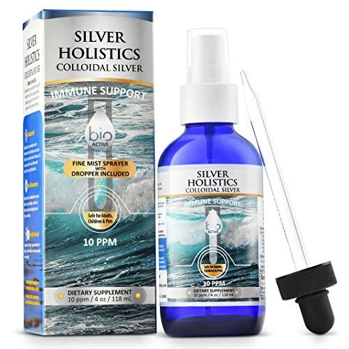 Colloidal Silver Spray Liquid Solution 4 oz 10 PPM Silver with Dropper