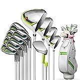 ZDAMN Conjunto de Palo de Golf Club de Golf de Damas Juego de Madera de Hierro Polo Putter del Sistema Completo con el Bolso Verde de la Bola 13 Golf Juegos Comp (Color : Verde, Size : 13)