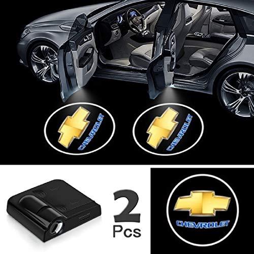 JOJOY LUX 2 Pack Car Door Lights Logo Projector, Universal Wireless Car Door Led Projector Lights, Upgraded Car Door Welcome Logo Projector Lights with 3.M Sticker,for CHEVR0LET