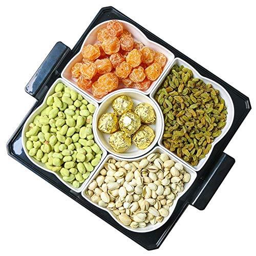 WEHOLY Abendessen im japanischen Stil Snack-Tablett Trockenfrüchte CNut Teller Set Desktop Storage Home Dekorationen