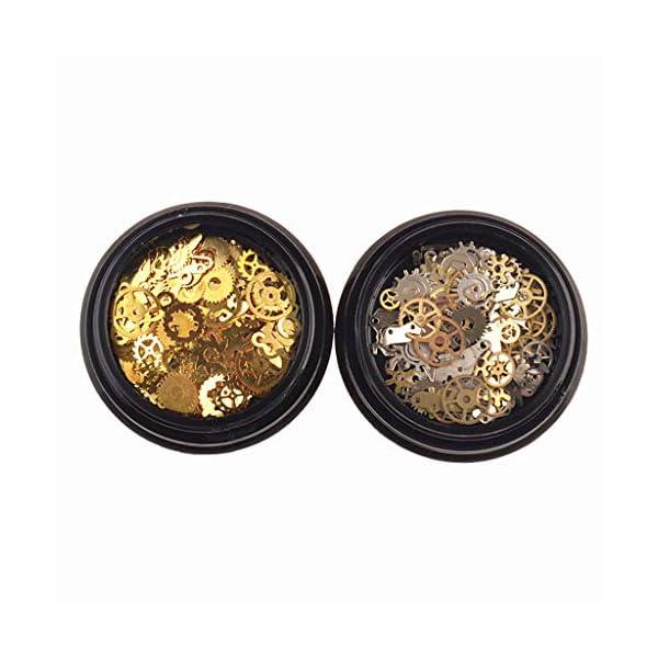 Tebatu Jewelry Accessories,Mini Mixed Steampunk Cogs Gear Clock Charm UV Frame Resin Jewelry Fillings 2 Box 3