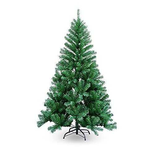 SWANEW Albero di Natale artificiale, 1,8 m, verde, unico albero di Natale, decorazione natalizia ignifuga, per la decorazione di Natale