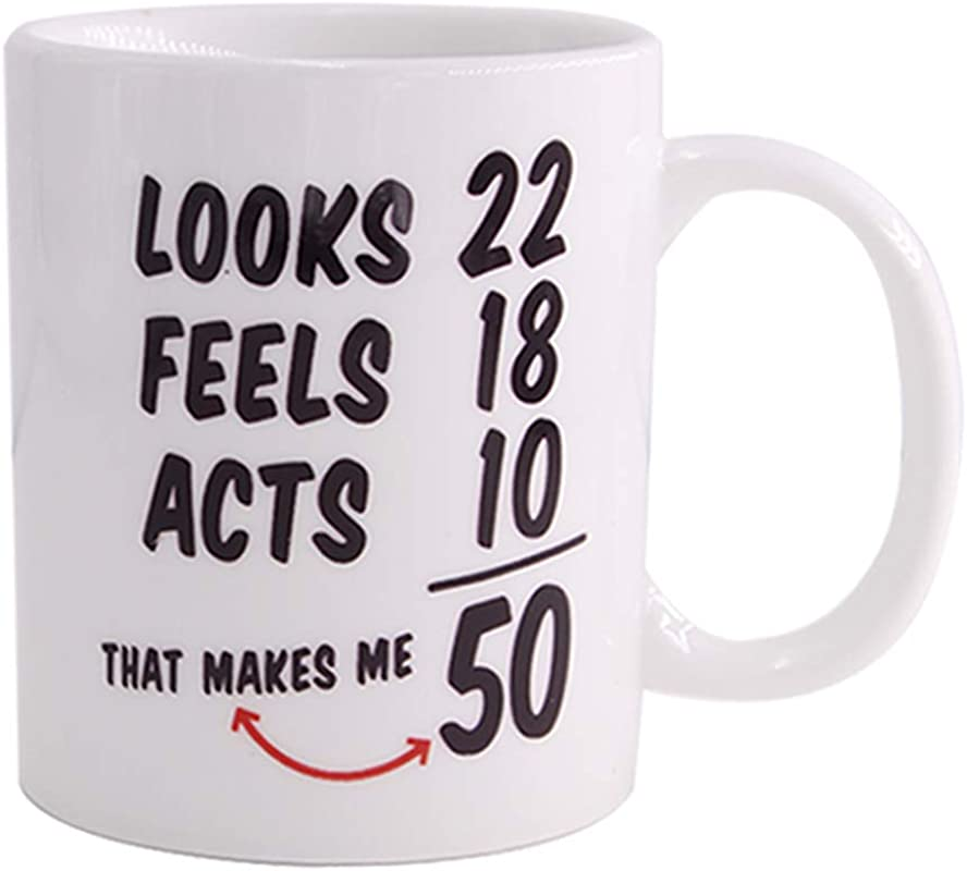 Christmas Gifts1968 50th Birthday Gifts Coffee Cups For Men Women Novelty Ceramic Mugs Anniversary Or Christmas Unique Gift Idea For Him Her Husband Or Wife 50 Year Old Presents For Mom Dad 11 Oz