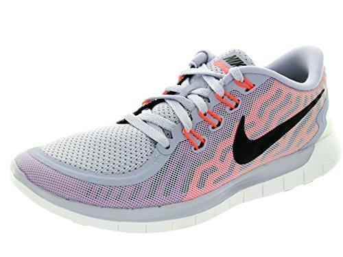 NIKE Women's Free 5.0 Running Shoes (10.5 B(M) US, Titanium/Black/Fuchsia Flash/Hot Lava)