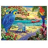luckykyky 5D Diamond Painting Mosaic Birds Paradise Diamond Set de bordado Diamante Rhinestone Decoraciones Diamante redondo 3D Regalo sin marco 40x50cm