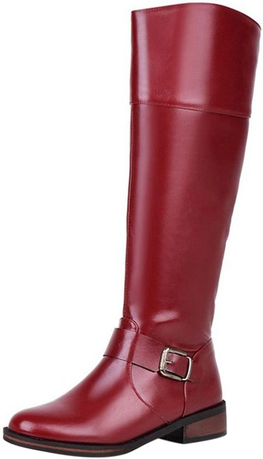FizaiZifai Women Simple Boots Zipper