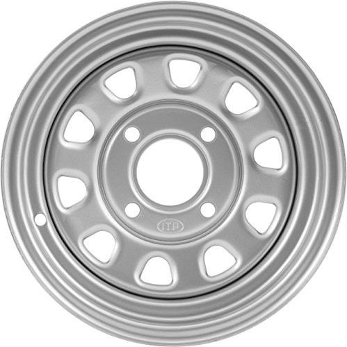 """ITP Delta Steel Silver Wheel with Machined Finish (12x7""""/4x137mm) -  1225571032"""